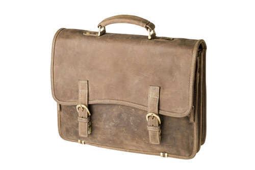 "Handmade leather briefcase ""Larry"""