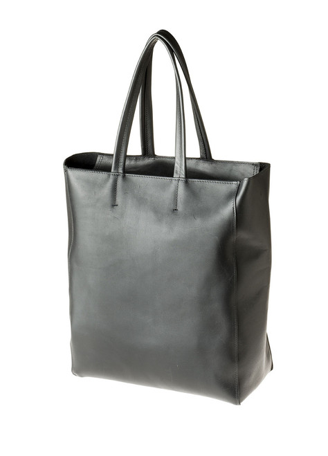 "Handmade leather shopper tote bag ""Shopper with Zip"""
