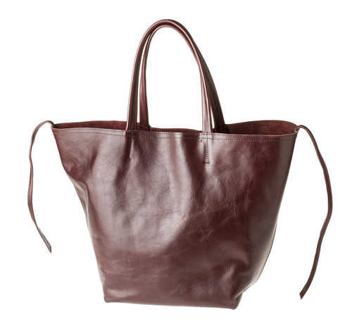 "Handmade leather shopper tote bag ""Shopper L"""