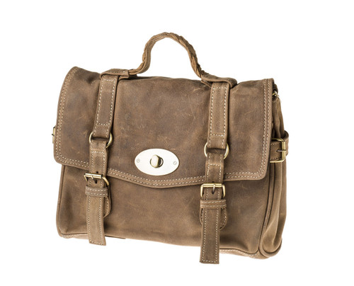 "Handmade leather briefcase ""Lane"""