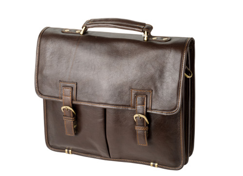 "Handmade leather briefcase ""Griffin"""