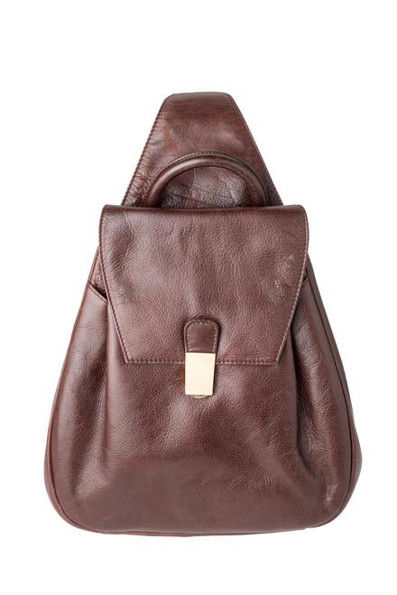 "Handmade leather backpack cross body shoulder bag handbag 3-in-1 ""685"""