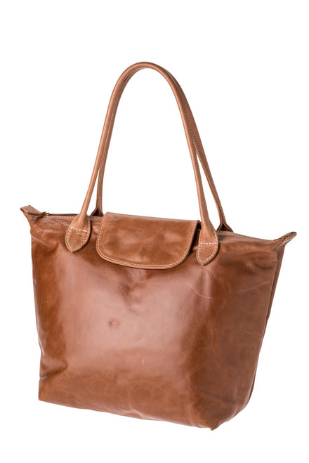"Handmade leather shopper tote bag ""Pavan"""