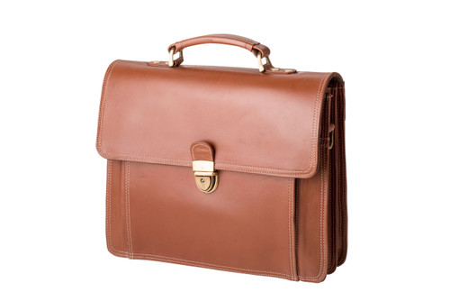 "Handmade leather briefcase ""Ray"""