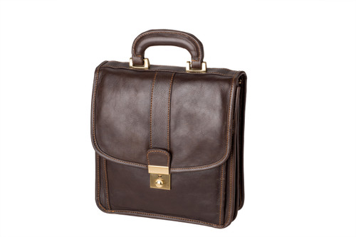 "Handmade leather briefcase ""Paolo"""