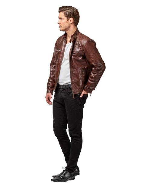 """Handmade Leather Jacket """"Washington""""  Side 1"""