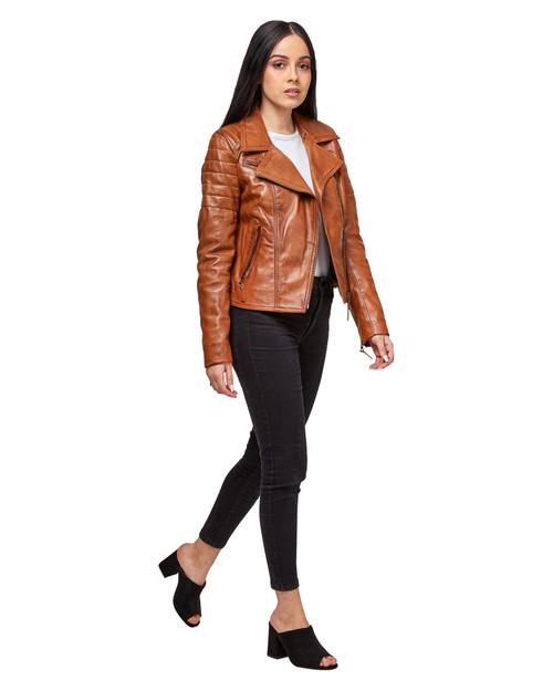 "Handmade Leather Jacket ""New York"" Side 1"