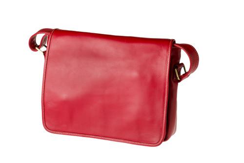 "Handmade leather messenger satchel bag ""Edel II"""