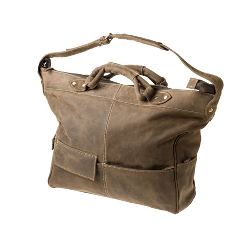 "Handmade leather travel bag suitcase ""Garda"""
