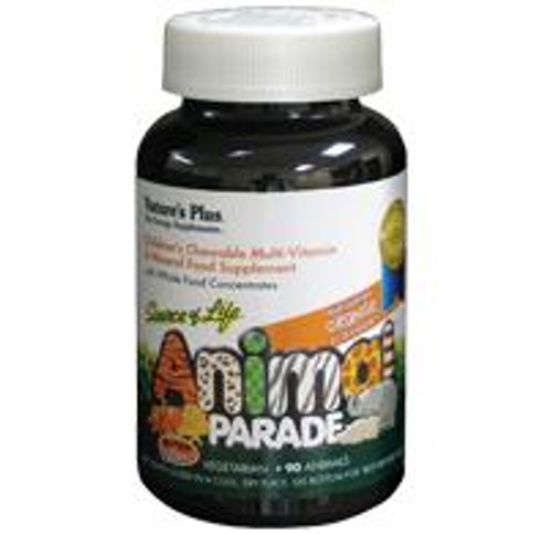 Natures Plus Animal Parade Childrens Chewable MultiVit and Mins Orange