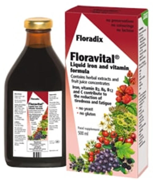 Floradix Floravital Liquid Iron and Vitamin Formula