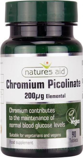 Natures Aid Chromium Picolinate Elemental
