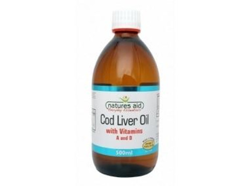 Natures Aid Cod Liver Oil Liquid with Vitamin A and D