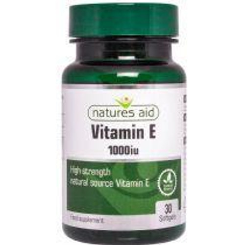 Natures Aid Vitamin E Natural 1000iu