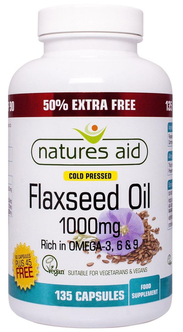 Natures Aid Flaxseed Oil Cold Pressed