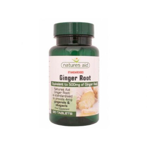 Natures Aid Ginger Root 500mg