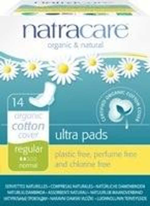 Natracare Natural Ultra Pads With Wings - RegularBoxed