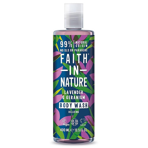 Faith in Nature Geranium and Lavender Natural Shower Gel and Foam Bath