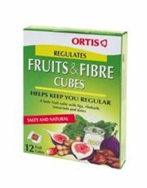 Ortis Fruits and Fibre Cubes with Rhubarb - Senna Free