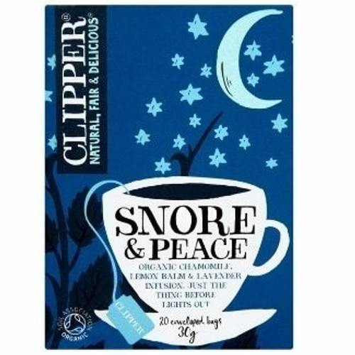 Clipper Organic Snore and Peace Chamomile Lemon Balm and Lavender Infusion Bags