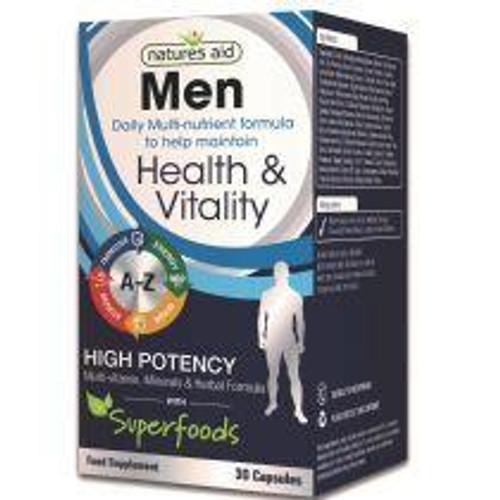 Natures Aid Mens Multi-Vitamins and Minerals with Superfoods