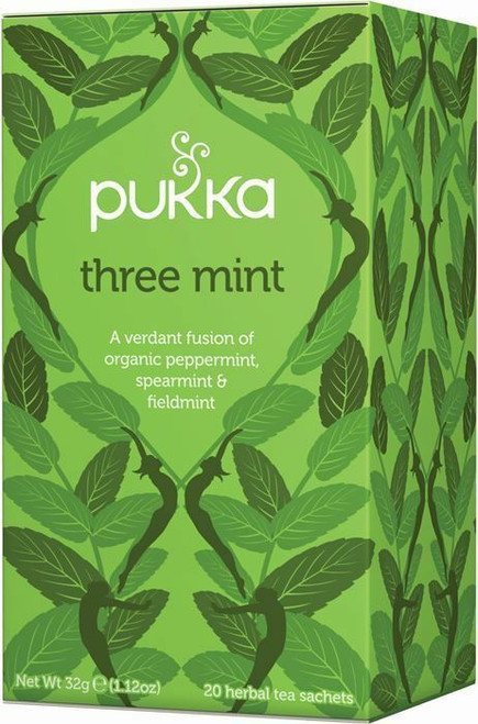 Pukka Three Mint Organic Herbal Tea