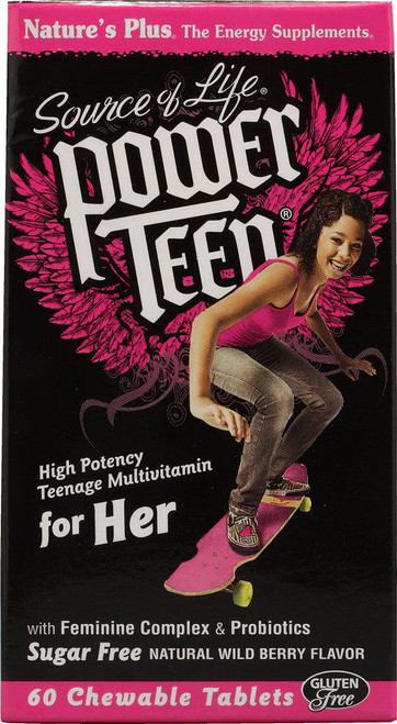 Natures Plus Source of Life Power Teen For Her Chewable