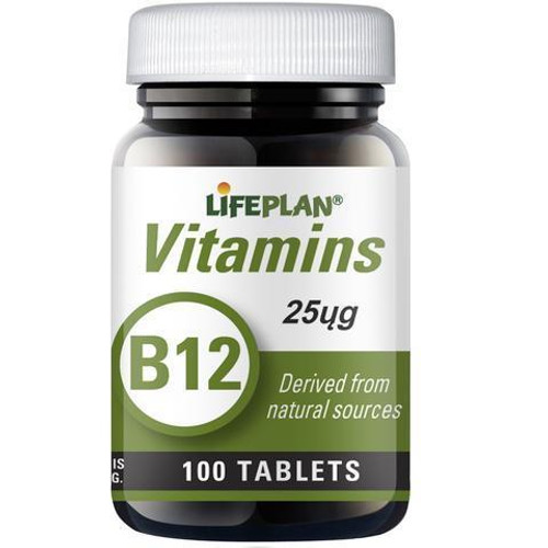 Lifeplan Vitamin B12 25mcg