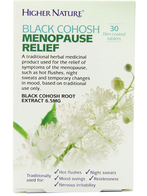 Higher Nature Black Cohosh Menopause Relief