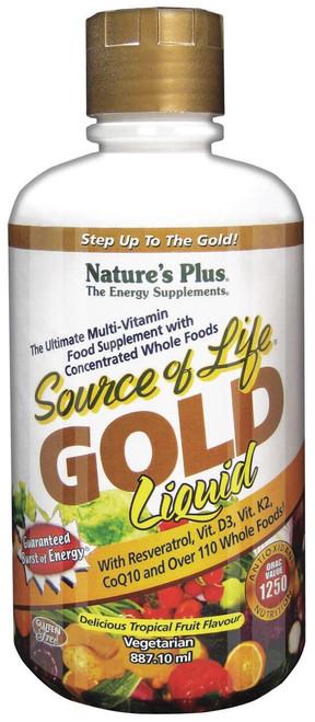 Natures Plus Liquid Source of Life Gold - Tropical Fruit Flavour