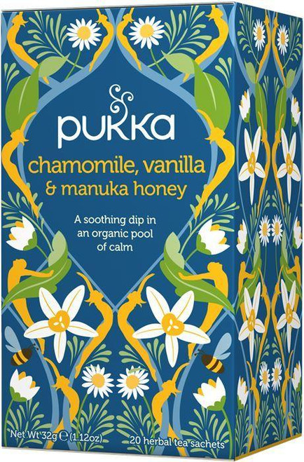 Pukka Chamomile Vanilla and Manuka Honey Tea
