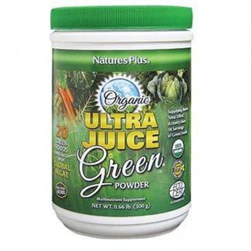 Natures Plus Organic Ultra Juice Green Powder