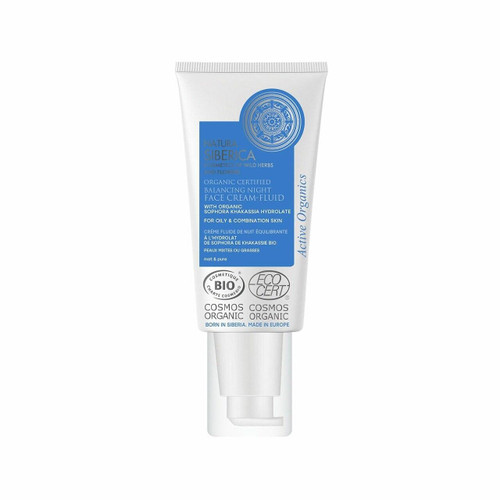 Natura Siberica Balancing Night Face Cream-Fluid for oily and combination skin