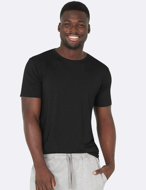 Boody Mens Crew Neck T-shirt - Black