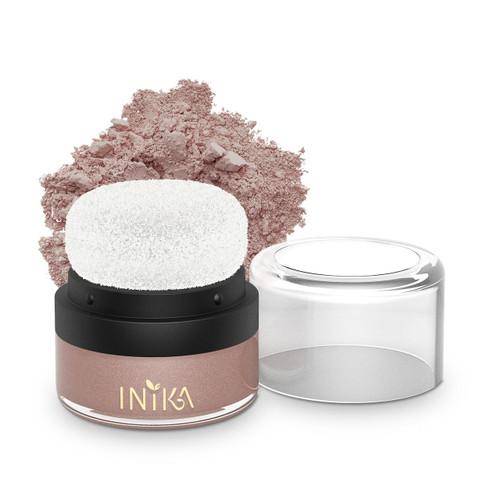 Inika Mineral Blusher Puff Pot Pink Petal