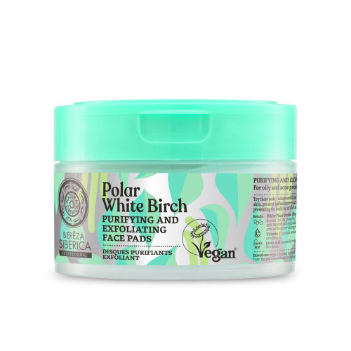 Natura Siberica Polar White Birch Purifying and Exfoliating Face Pads