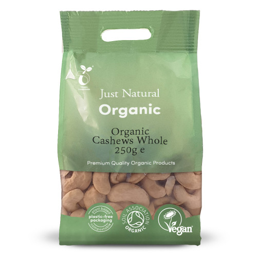 Just Natural Organic Cashews Nuts -Whole