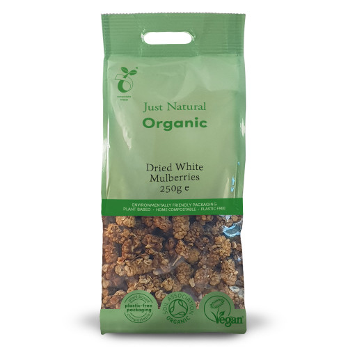 Just Natural Organic Dried White Mulberries
