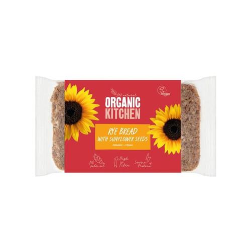Organic Kitchen Organic Wholegrain Rye Bread with Sunflower Seeds 500g