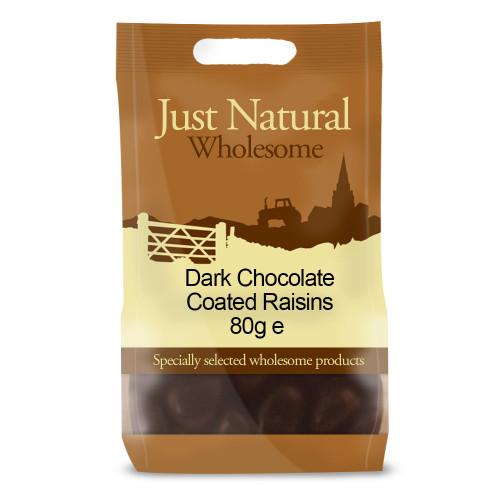 Just Natural Wholesome Dark Chocolate Coated Raisins