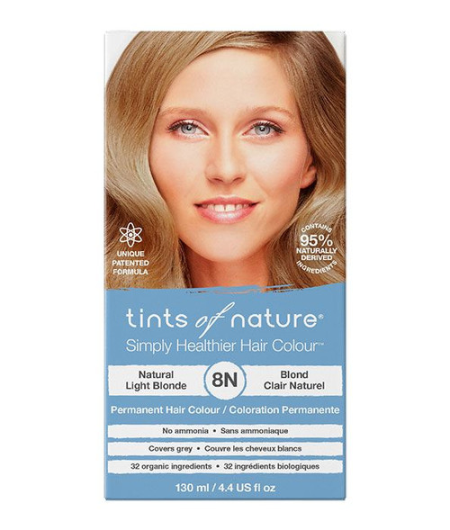 Tints of Nature 8N Natural Light Blonde Permanent Hair Dye