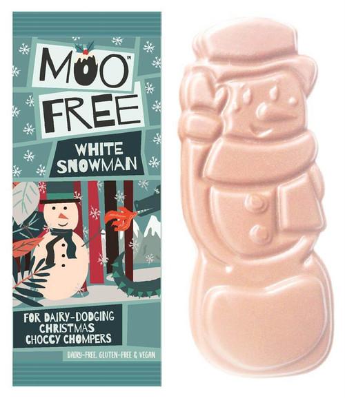 Moo Free White Chocolate Snowman Bar 32g