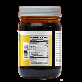 Unsulfured Blackstrap Molasses (1 lb  Glass Jar)