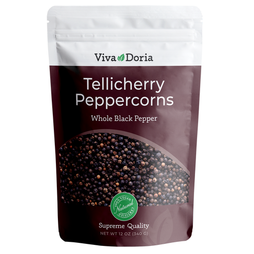Tellicherry Peppercorn (Whole Black Pepper) 12 oz