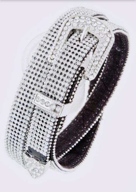 White/Black Bling Belt