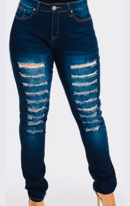 Navy Ripped Jeans