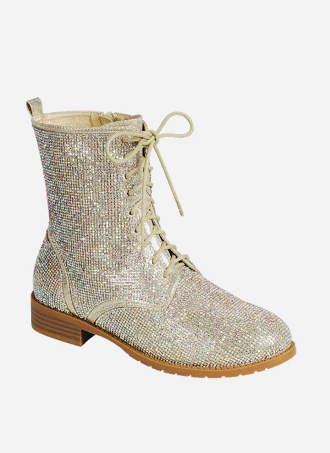 Star Studded Bling Silver Boot