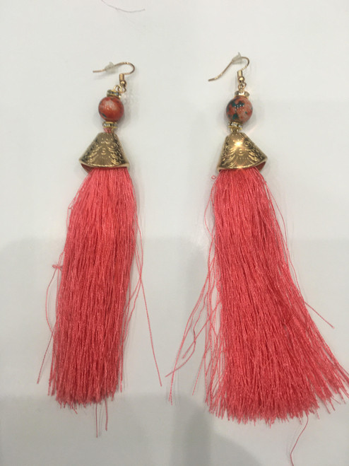 Red String Earring