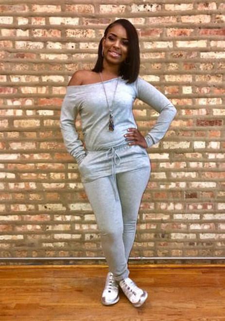 Autumn Grey Jumpsuit