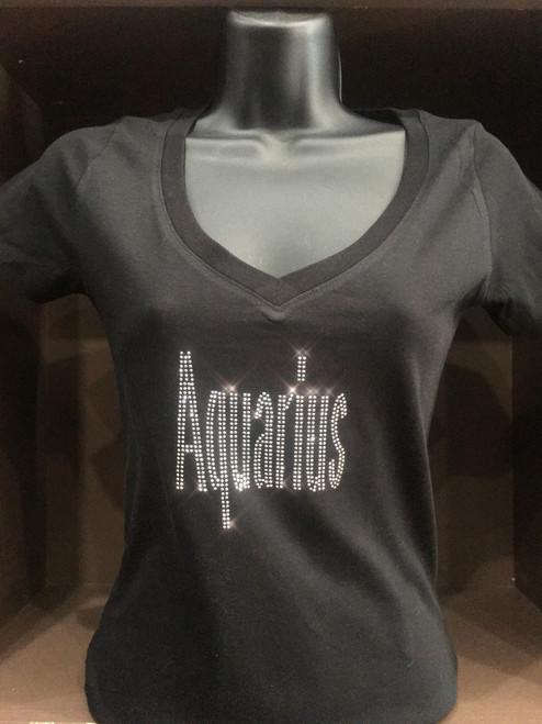 Aquarius Bling T -Shirt